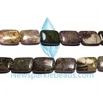 Green Grass Agate12   20*14 mm Rectangle  Beads